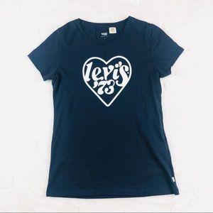 Levi's heart 73 navy blue shirt